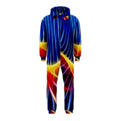 Color Colorful Wave Abstract Hooded Jumpsuit (kids)