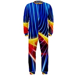 Color Colorful Wave Abstract Onepiece Jumpsuit (men)