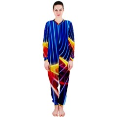 Color Colorful Wave Abstract Onepiece Jumpsuit (ladies)