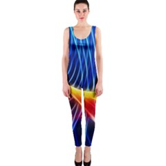 Color Colorful Wave Abstract OnePiece Catsuit