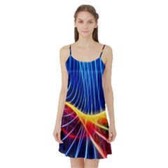 Color Colorful Wave Abstract Satin Night Slip