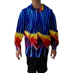 Color Colorful Wave Abstract Hooded Wind Breaker (kids)