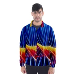 Color Colorful Wave Abstract Wind Breaker (men)