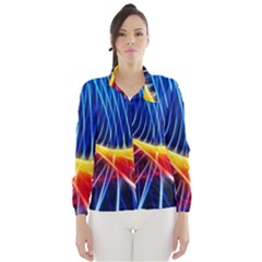 Color Colorful Wave Abstract Wind Breaker (women)