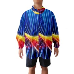 Color Colorful Wave Abstract Wind Breaker (kids)