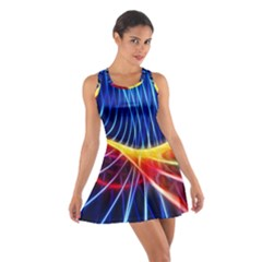 Color Colorful Wave Abstract Cotton Racerback Dress