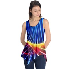 Color Colorful Wave Abstract Sleeveless Tunic