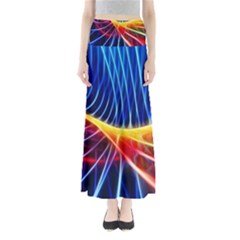 Color Colorful Wave Abstract Maxi Skirts