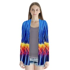 Color Colorful Wave Abstract Cardigans