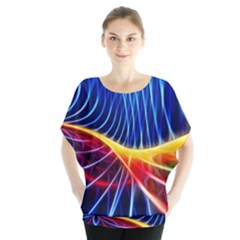 Color Colorful Wave Abstract Blouse