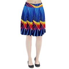 Color Colorful Wave Abstract Pleated Skirt