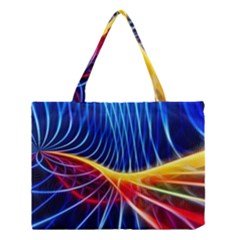 Color Colorful Wave Abstract Medium Tote Bag
