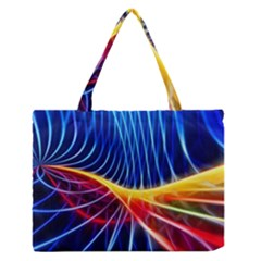 Color Colorful Wave Abstract Medium Zipper Tote Bag