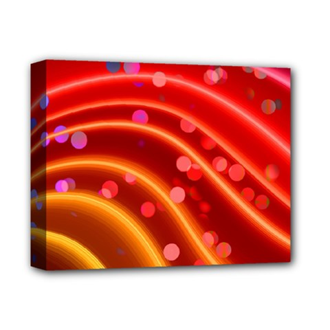 Bokeh Lines Wave Points Swing Deluxe Canvas 14  X 11