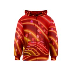 Bokeh Lines Wave Points Swing Kids  Zipper Hoodie