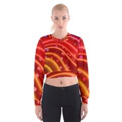 Bokeh Lines Wave Points Swing Women s Cropped Sweatshirt