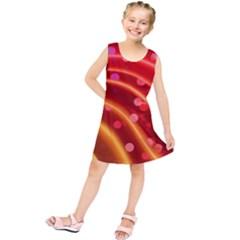 Bokeh Lines Wave Points Swing Kids  Tunic Dress