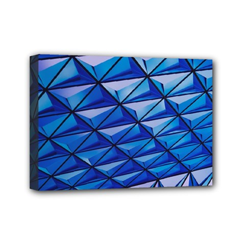 Lines Geometry Architecture Texture Mini Canvas 7  X 5