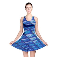 Lines Geometry Architecture Texture Reversible Skater Dress