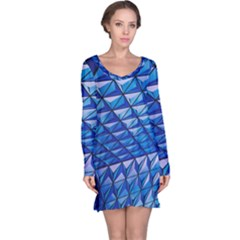 Lines Geometry Architecture Texture Long Sleeve Nightdress