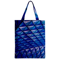 Lines Geometry Architecture Texture Zipper Classic Tote Bag