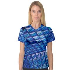 Lines Geometry Architecture Texture Women s V-Neck Sport Mesh Tee