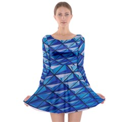 Lines Geometry Architecture Texture Long Sleeve Skater Dress