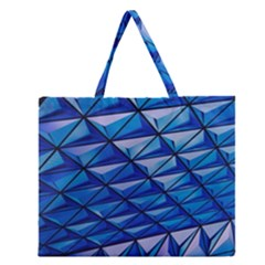 Lines Geometry Architecture Texture Zipper Large Tote Bag