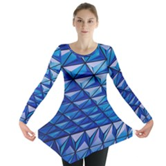 Lines Geometry Architecture Texture Long Sleeve Tunic