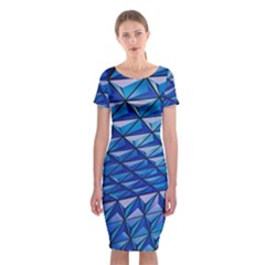 Lines Geometry Architecture Texture Classic Short Sleeve Midi Dress