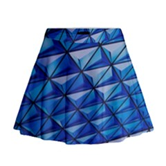 Lines Geometry Architecture Texture Mini Flare Skirt