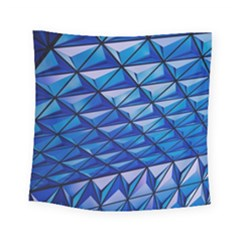 Lines Geometry Architecture Texture Square Tapestry (small)