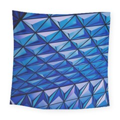 Lines Geometry Architecture Texture Square Tapestry (large)