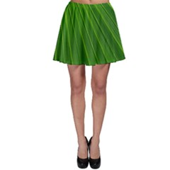 Green Lines Macro Pattern Skater Skirt