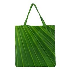 Green Lines Macro Pattern Grocery Tote Bag