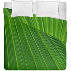 Green Lines Macro Pattern Duvet Cover Double Side (king Size)