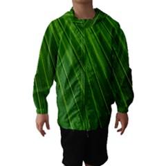 Green Lines Macro Pattern Hooded Wind Breaker (kids)