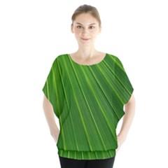 Green Lines Macro Pattern Blouse