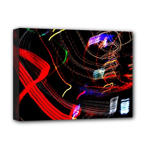 Night View Night Chaos Line City Deluxe Canvas 16  x 12