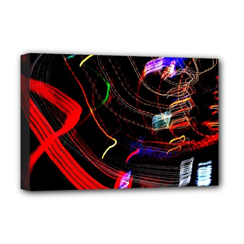Night View Night Chaos Line City Deluxe Canvas 18  X 12