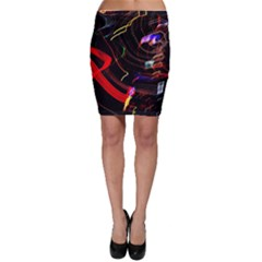 Night View Night Chaos Line City Bodycon Skirt