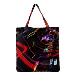 Night View Night Chaos Line City Grocery Tote Bag