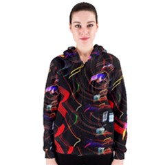 Night View Night Chaos Line City Women s Zipper Hoodie
