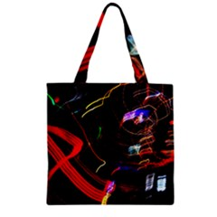 Night View Night Chaos Line City Zipper Grocery Tote Bag