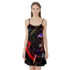 Night View Night Chaos Line City Satin Night Slip