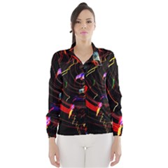 Night View Night Chaos Line City Wind Breaker (women)
