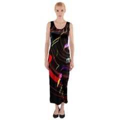 Night View Night Chaos Line City Fitted Maxi Dress