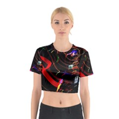 Night View Night Chaos Line City Cotton Crop Top