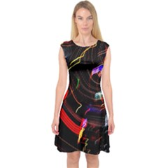 Night View Night Chaos Line City Capsleeve Midi Dress