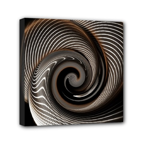 Abstract Background Curves Mini Canvas 6  x 6